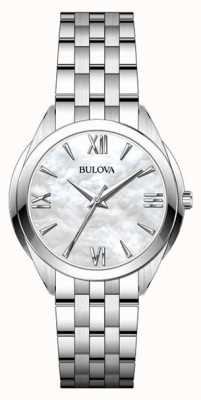 Bulova Women's Stainless Steel Mother Of Pearl Dial Watch 96L268