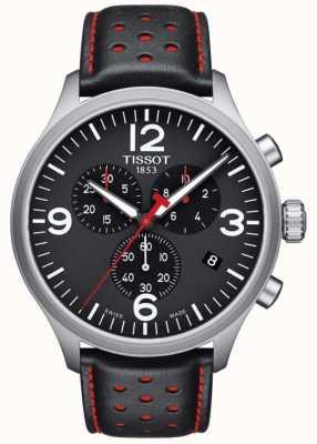 Tissot Mens Chrono XL Black Leather Strap Black Dial T1166171605702