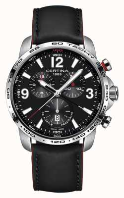 Certina | DS Podium | Chronograph 1/100th Sec | Black Leather | C0016471605701