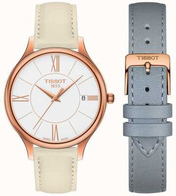 Tissot Womens Bella Ora Grey Leather Strap T1032103601800