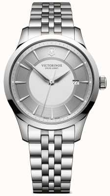 Victorinox Swiss Army Mens Alliance 40mm Silver Dial Stainless Steel Bracelet 241822