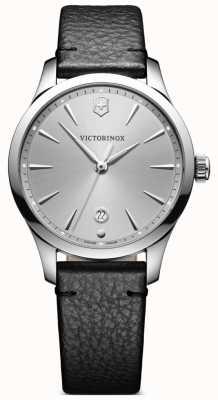 Victorinox Swiss Army Alliance 35mm Grey Dial Black Leather Strap 241827