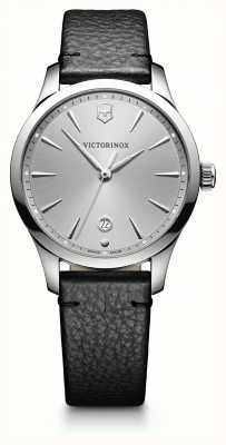 Victorinox Swiss Army Alliance 35mm Grey Dial Black Leather Strap 241827