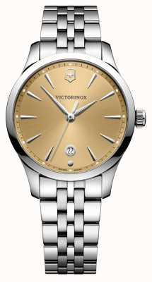 Victorinox Swiss Army Alliance 35mm Champagne Dial Stainless Steel Bracelet 241829