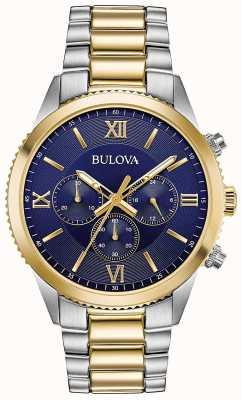Bulova Women's Chronograph Watch | Stainless Steel Strap | 98A220