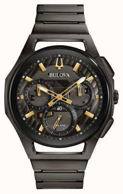 Bulova Men's Curv Gunmetal Pvd Plated Watch 98A206
