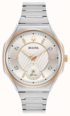 Bulova Unisex Curv Stainless Steel Silver Watch 98P182