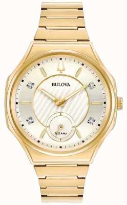 Bulova | Curv | Womens | Gold Tone Bracelet | 97P136