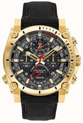 Bulova Men's Sport Champlain Precisionist Black And Gold Watch 97B178