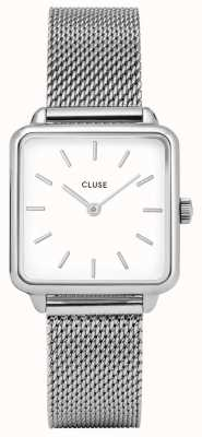 CLUSE Womens La Garconne White Dial Stainless Steel Mesh Bracelet CL60001