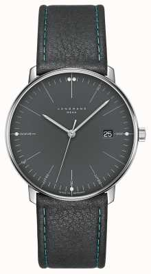 Junghans Max Bill MEGA MF Grey Leather Strap 058/4823.00