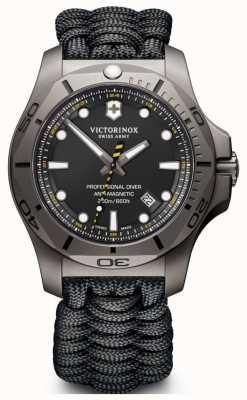 Victorinox Swiss Army Mens I.N.O.X Pro Diver Titanium Case Black Paracord Strap 241812