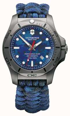 Victorinox Swiss Army Mens I.N.O.X Pro Diver Titanium Case Blue Paracord Strap 241813