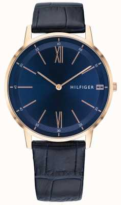 Tommy Hilfiger Cooper | Blue Leather Strap | Blue Dial 1791515
