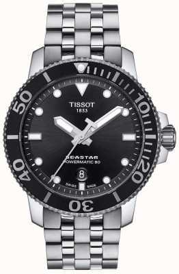 Tissot Men's Seastar 1000 Powermatic 80 Black Dial Stainless Steel T1204071105100