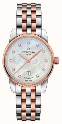 Certina Womens DS Podium Lady Automatic Two Tone Bracelet C0010072211600