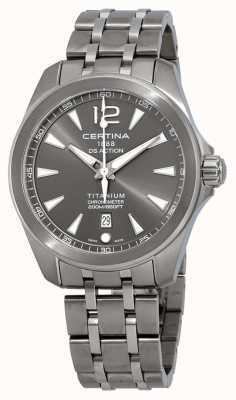 Certina Men's DS Action Watch Grey Dial Titanium Bracelet C0328514408700