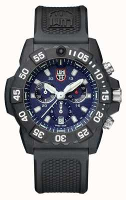 Luminox Mens Navy Seal 3580 Chronograph Blue/White With PU Strap XS.3583