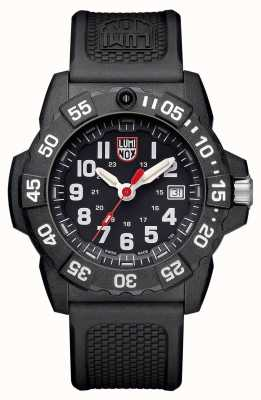 Luminox Mens Navy Seal 3500 Black Dial Badge and Luminox Pen XS.3501.VP1.SET
