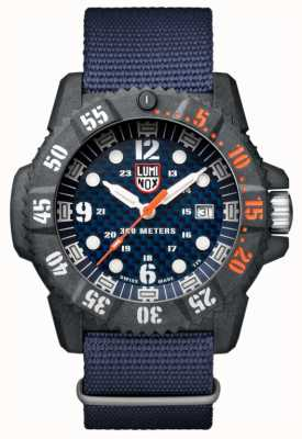 Luminox Men's Carbon Seal 3800 Blue Dial Blue Webbing Strap XS.3803.C