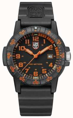 Luminox Leather Back Sea Turtle 0320 Giant Black Orange XS.0329