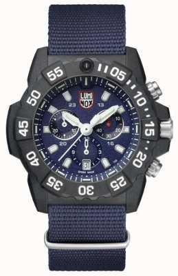 Luminox Navy Seal 3580 Chrono Blue White Dial Blue Webbing Strap XS.3583.ND