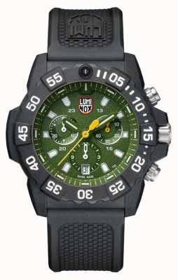 Luminox Mens Navy Seal 3580 Chrono Green Dial With PU Strap XS.3597