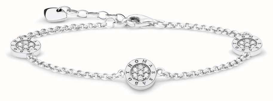 Thomas Sabo Sterling Silver Zirconia Bracelet 16-19cm A1829-051-14-L19V