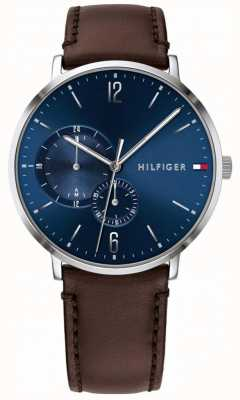 Tommy Hilfiger Brooklyn | Brown Leather Strap | Blue Dial 1791508
