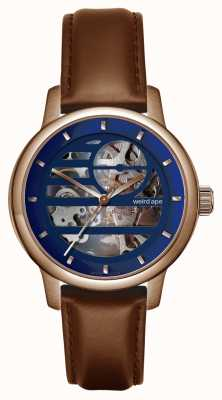 Weird Ape Rosalind Blue Rose Gold/ Oak Leather Strap WA02-005811
