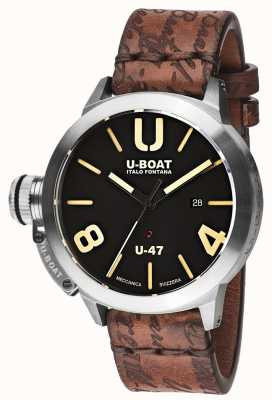U-Boat Classico 47 AS1 Automatic Black Rubber Strap 8105