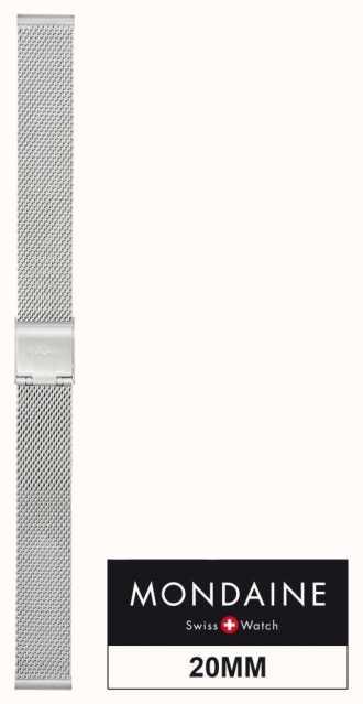 Mondaine Stainless Steel Mesh Strap 20mm FM8920.STEM.1