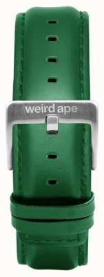 Weird Ape Emerald Leather 20mm Strap Only Silver Buckle ST01-000110