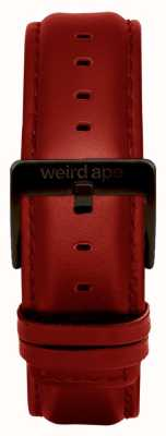 Weird Ape Red Leather 20mm Strap Black Buckle ST01-000077