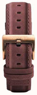 Weird Ape Pastel Pink Leather 16mm Strap Only Rose Gold Buckle ST01-000033