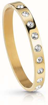 Guess Womens Gold Plated Crystal Touch Bangle UBB28121-L