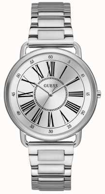 Guess Ladies Silver Watch With Silver Dial W1149L1
