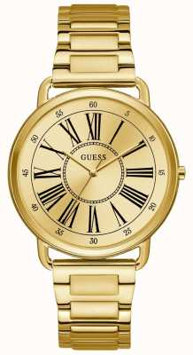 Guess Womens Kennedy Gold Tone Roman Numeral Watch W1149L2