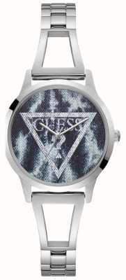 Guess Ladies Silver Trend Round Watch W1145L1