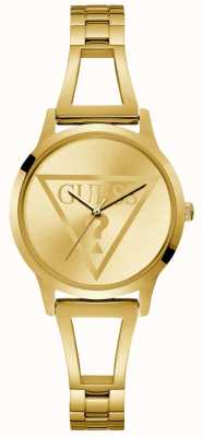 Guess Ladies Gold Trend Round Watch W1145L3