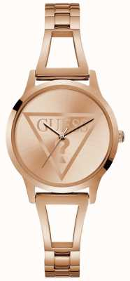 Guess Ladies Rose Gold Trend Round Watch W1145L4
