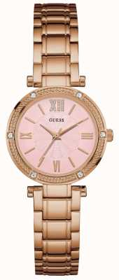 Guess Ladies Rose Gold Watch With Pink Dial W1134L2