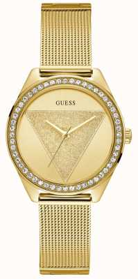 Guess Ladies Gold Watch Gold Glitz Logo W1142L2