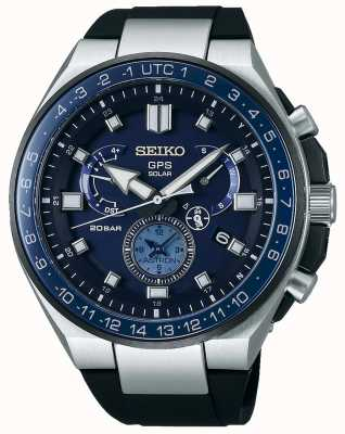Seiko Mens GPS Astron Solar Watch Blue Dial SSE167J1