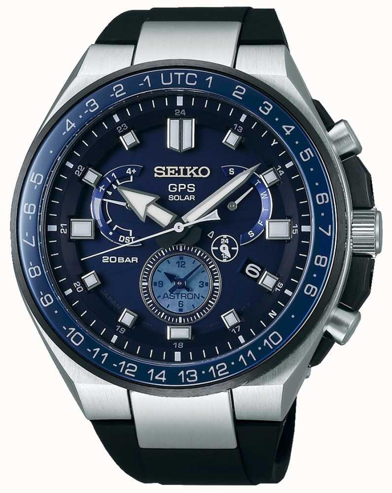 9ecde5735 Seiko Mens GPS Astron Solar Watch Blue Dial SSE167J1 - First Class ...