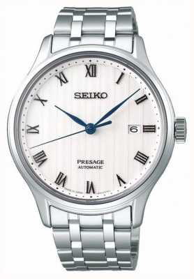 Seiko Presage Mens Automatic White Dial Stainless Steel Bracelet SRPC79J1