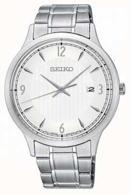 Seiko Mens Classic Pattern White Dial Watch SGEH79P1