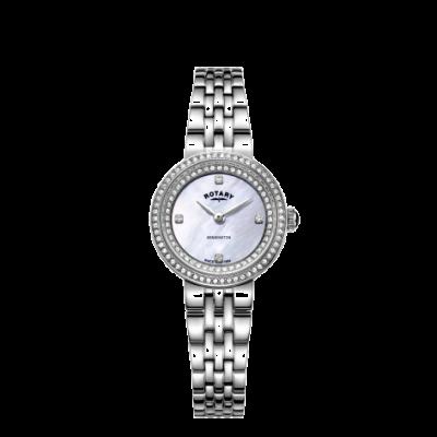 Rotary Womens Kensington Crystal Steel Bracelet Watch LB05370/41