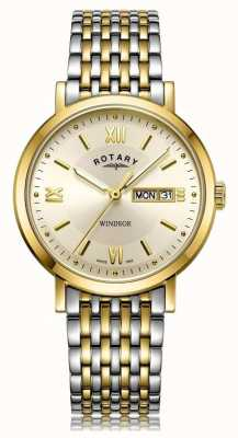 Rotary Mens Windsor Two Tone Watch GB05301/09