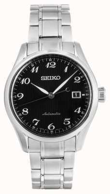 Seiko Presage Mens Automatic Black Dial Stainless Steel Bracelet SPB037J1